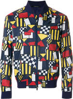 Ermenegildo Zegna geometric print bomber jacket