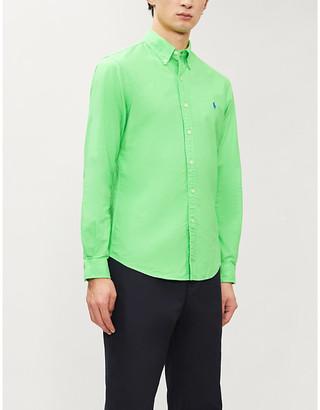 Polo Ralph Lauren Logo-embroidered cotton-twill shirt