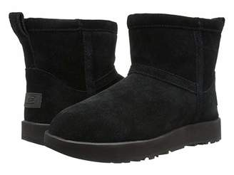 UGG Classic Mini Waterproof (Black) Women's Boots