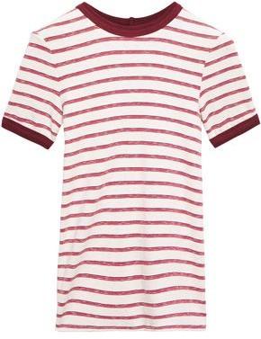 Enza Costa Striped Stretch-jersey T-shirt