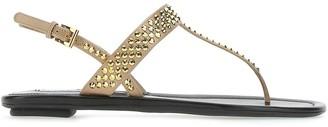 Prada Studded T-Bar Buckle Fastening Sandals