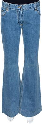 Dolce & Gabbana Blue Light Washed Denim Flared Jeans L