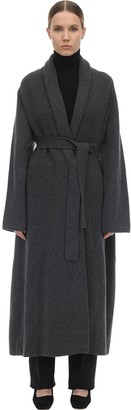 The Row Long Cashmere Felted Robe Coat