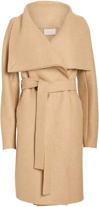 Harris Wharf London Volcano Draped Collar Wool Coat