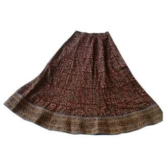 Non Signé / Unsigned Non Signe / Unsigned Hippie Chic Multicolour Cotton Skirts