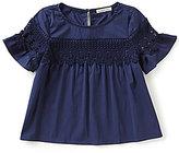 Copper Key Big Girls 7-16 Flutter-Sleeve Woven Top