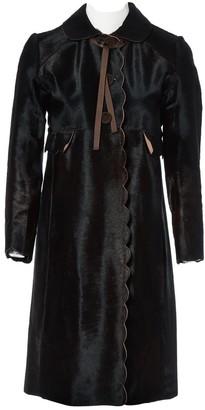 Anya Hindmarch Brown Pony-style calfskin Coats