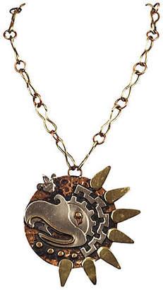 One Kings Lane Vintage Mexican Handmade Bird Pendant Necklace - Treasure Trove NYC
