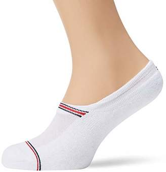 Tommy Hilfiger TH Men Iconic Sport Footie 2P Ankle Socks, (Black 200), 6/8 (Pack of 2)