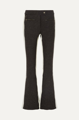 Erin Snow Phia Flared Stretch-cady Ski Pants - Gray