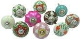 Ibacrafts Multicolor Cupboard Pulls Lot Of 10 Pcs Ceramic Drawer Knob Decorative Knobs
