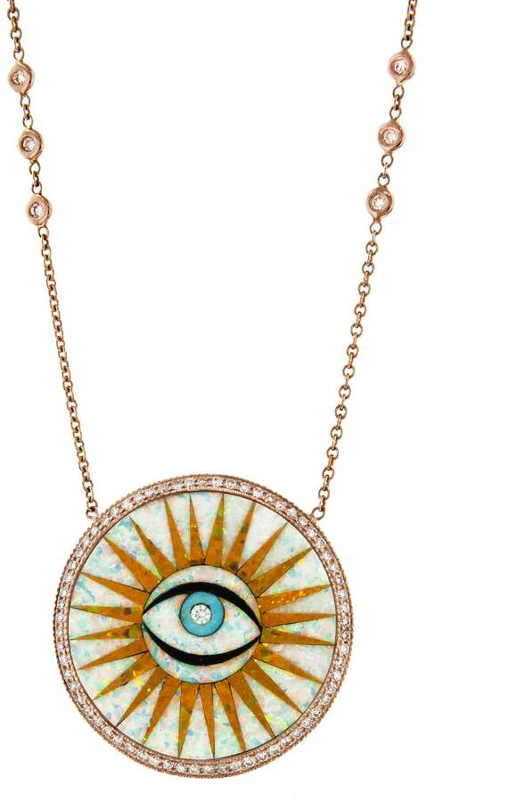 Jacquie Aiche Single Eye Opal Eye Necklace