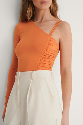 Curated Styles Side Draped One Arm Top