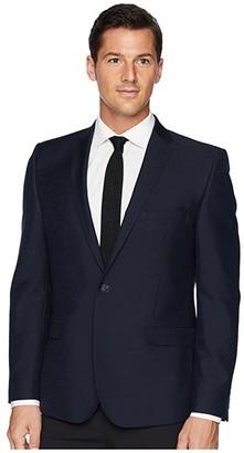 Nick Graham Tonal Pattern Sportcoat (Navy) Men's Coat