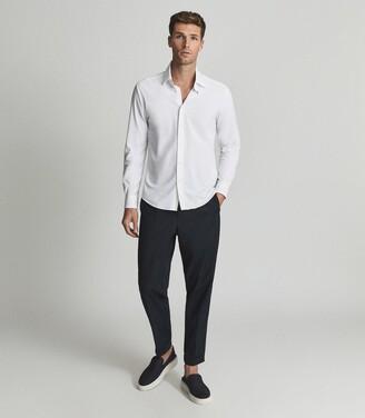 Reiss Voyager Reg - Regular Fit Travel Shirt in White