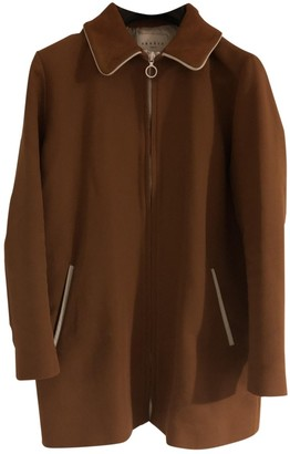 Sandro Camel Cotton Coat for Women