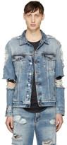 Balmain Blue Denim Destroy Jacket