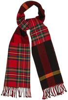 Burberry Tartan and checked wool scarf