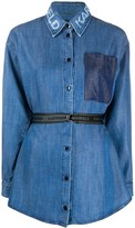 Karl Lagerfeld Paris belted denim shirt