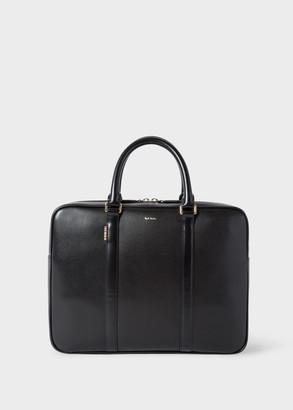 Paul Smith Men's Black 'New City' Leather Slim Business Folio