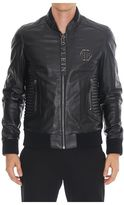 Philipp Plein Exagonal Leather Jacket