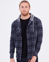 Quiksilver Mens Snap Up Long Sleeve Hooded Shirt