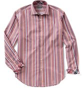 Thomas Dean Stripe Long-Sleeve Woven Shirt