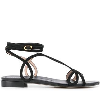 Stuart Weitzman Strappy Flat Sandals