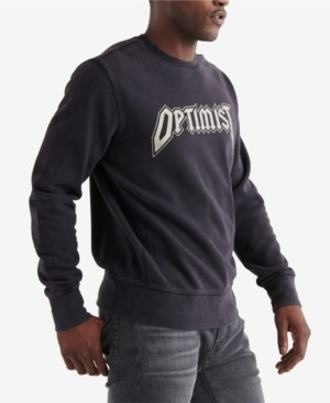Lucky Brand Men's Optimist Terry Crew Sweatshirt