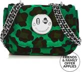Hill & Friends Happy TweencyLeopard Chain Bag- Green/black
