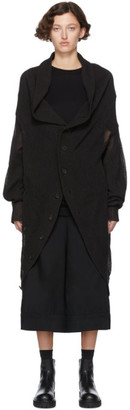 Yohji Yamamoto Regulation Black R-Circle CD Knit Cardigan