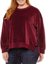 A.N.A Long Sleeve Velvet Sweatshirt-Plus