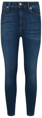 7 For All Mankind Aubrey Skinny Slim Illusion Jeans