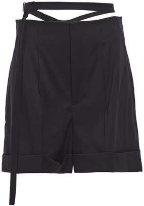 Helmut Lang Belted Pleated Wool Shorts
