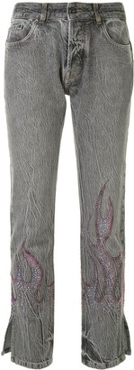 Filles a papa Kiss rhinestone-embellished jeans