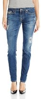 Big Star Women's Alex Mid Rise Skinny with Embellished Back Pockets In 4
