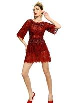 Dolce & Gabbana Jewel Embroidered Lace Dress