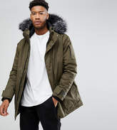 Bellfield Tall Parka With Faux Fur Hood