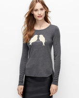 Ann Taylor Bird Print Sweater