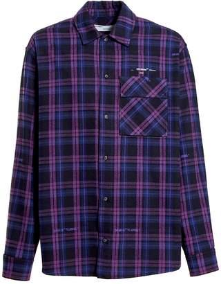 Off-White Off White flannel check shirt purple