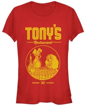 Fifth Sun Women's Lady and the Tramp Tony's Restaurant Short Sleeve T-shirt