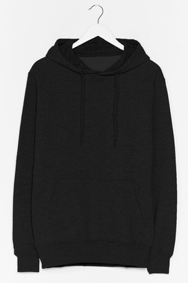 Nasty Gal Womens You Better Pullover Oversized Hoodie - Black