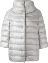 Herno cropped sleeve padded jacket - women - Feather Down/Polyamide - 42