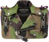 Moschino Camouflage Biker Shoulder Bag