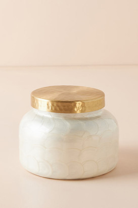 Capri Blue Volcano Capiz Jar Candle By in White Size ALL