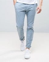 Abercrombie & Fitch Skinny Stretch Chino In Blue