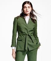 Brooks Brothers Belted Wool-Blend Jacket
