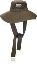 Ganni Rip Stop Cotton Bucket Hat