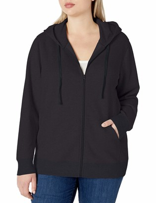 Amazon Essentials Plus Size French Terry Fleece Full-Zip Hoodie Hooded Sweatshirt