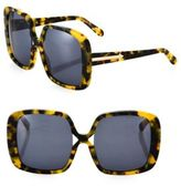 Karen Walker Marques Crazy Tortoise 56MM Square Sunglasses